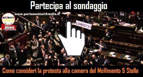 Come consideri la protesta alla camera del movimento 5 for Movimento 5 stelle camera